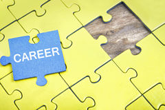 Puzzle with word Career. Puzzle pieces with word Career Stock Images