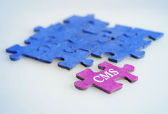 Puzzle word CMS Stock Photography