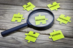 Puzzle with word Education Stock Photos