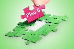 Puzzle word Plan B Royalty Free Stock Image