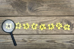 Puzzle with word Research Royalty Free Stock Photos