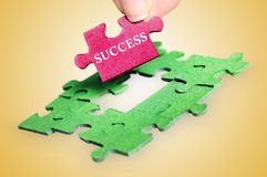 Puzzle word Success Stock Photos