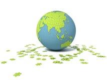 Puzzle world Stock Image