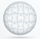 Puzzle world in the form a sphere. Royalty Free Stock Images