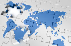 Puzzle world map Royalty Free Stock Photo