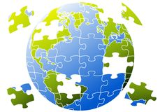 Puzzle world, vector Royalty Free Stock Photo