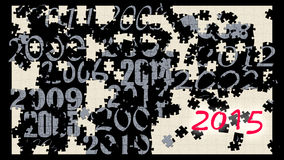 Puzzle with year numbers. Current 2015 Royalty Free Stock Photos