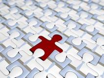 puzzle zbudować drużynę Obrazy Stock