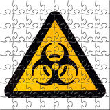 Puzzled biohazard Stock Images