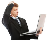 Puzzled businessman Royalty Free Stock Photography