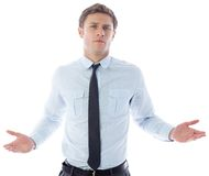 Puzzled businessman Stock Images