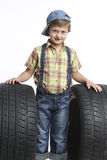 Puzzled car mechanic Stock Photography