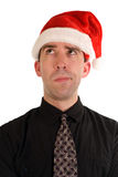 Puzzled Christmas Employee Stock Photo