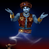 Puzzled genie. Royalty Free Stock Photography