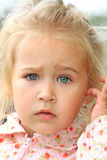 Puzzled glare Royalty Free Stock Images
