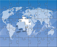 Puzzled globe Royalty Free Stock Photos