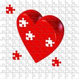 Puzzled heart. Unfinished model, seamless patern Royalty Free Stock Images