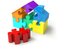 Puzzled Home Royalty Free Stock Images