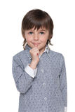 Puzzled little boy Royalty Free Stock Photography