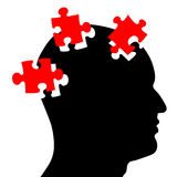Puzzled mind Stock Images