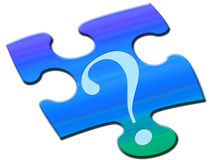 Puzzled question Stock Image