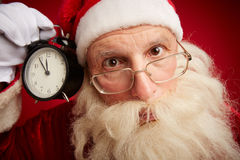 Puzzled Santa Royalty Free Stock Images