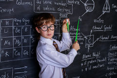 Puzzled school boy Royalty Free Stock Photos