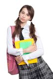 Puzzled schoolgirl Royalty Free Stock Photos