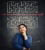 Woman different thinking royalty free stock photo