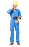 Puzzled worker Royalty Free Stock Photo
