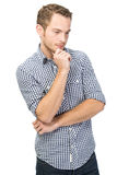 Puzzled young man Royalty Free Stock Image