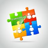 Puzzlekonzept der Teamwork Lizenzfreies Stockbild