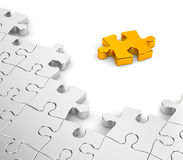 Puzzlen im Gold und im Chrom vektor abbildung