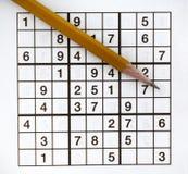 puzzler sudoku Zdjęcia Royalty Free