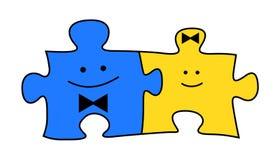Puzzles illustration de vecteur