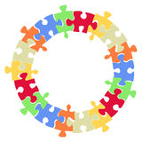 Puzzles. Border on white background Stock Photography