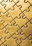 Puzzles. Puzzle texture on the perspective Royalty Free Stock Images