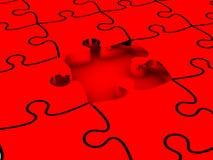 puzzles 3D denteux blancs Photos libres de droits