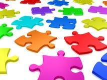 puzzles 3D denteux blancs Images stock