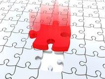 puzzles 3D denteux blancs Image stock