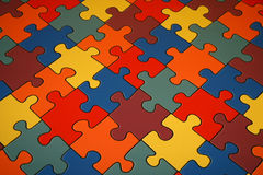 Puzzles. Background from colour big puzzles vector illustration