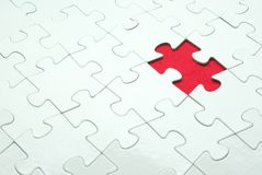 Puzzles. White puzzles for background. business concept Royalty Free Stock Photos