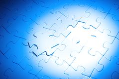 Puzzles. For background. business concept Royalty Free Stock Photo