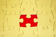 Puzzles. Gold puzzles for background. business concept Stock Photo