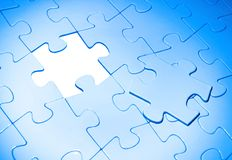 Puzzles. For background. business concept Stock Images