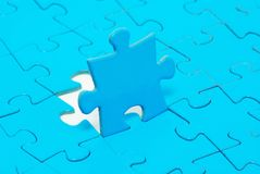 Puzzles. Blue puzzles for background. business concept Stock Photos