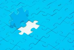 Puzzles. Blue puzzles for background. business concept Stock Image