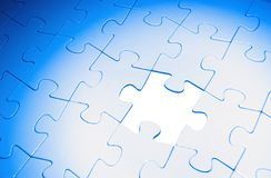 Puzzles. For background. business concept Stock Photos