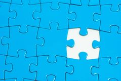 Puzzles. Blue puzzles for background. business concept Royalty Free Stock Image