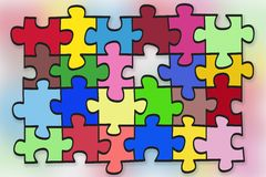 Puzzles  abstract concept. Abstract illustration-  puzzles concept background. Contains patches Royalty Free Stock Photo